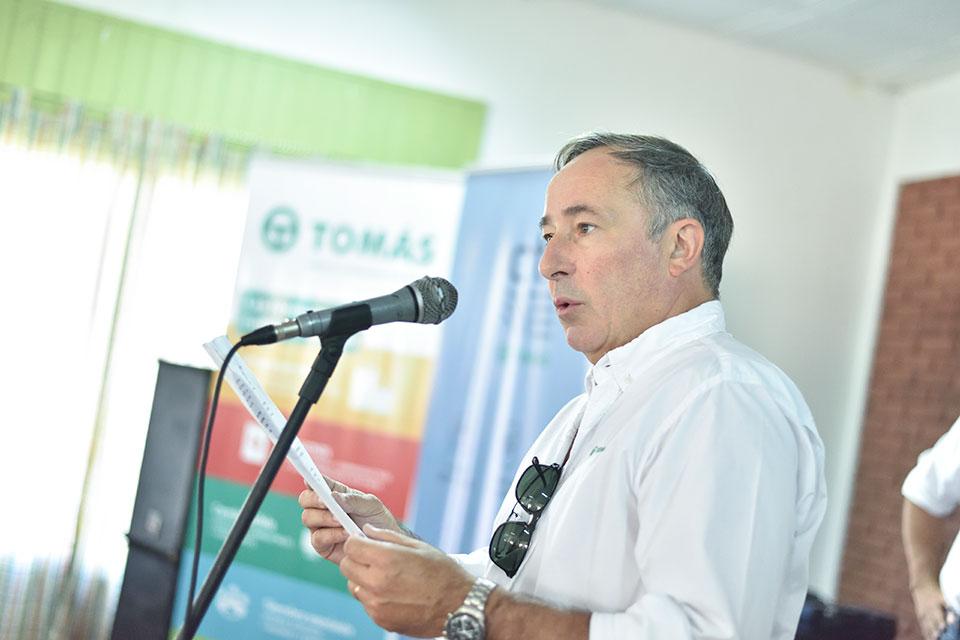 Carlos Borla, presidente Tomas Hnos